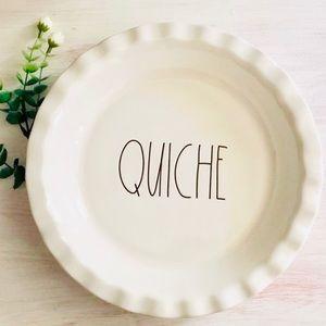 N E W 🧡Charming Rae Dunn, 'QUICHE' Dish! 🧡
